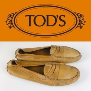 Tod's Gommino Leather Loafers Slip On Flats Shoes